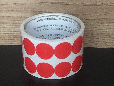 Etiqueta Redonda Vermelha 15mmx15mm 500 unids