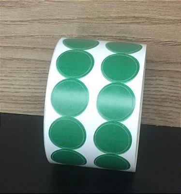 Etiqueta Redonda Verde 15mmx15mm 500 unids