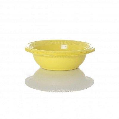 Cumbuca Plastica Pf15cm Amarelo Trik Trik 10 unids (consultar disponibilidade antes da compra)