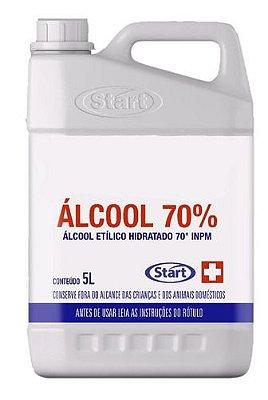 Álcool liquido 70% Assept Start 5lts