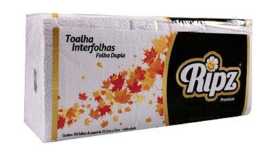 Toalha Interfolha Branca Ripz 23,5x21Fl Dupla 15pctsx150fls