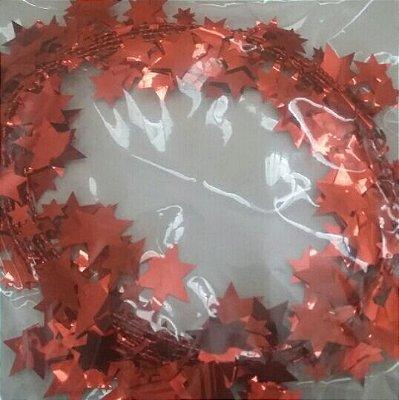 Fio Metalizado Fantasia Estrela Pq Vermelha 2,70mts