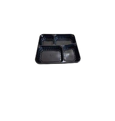 Embalagem Marmita 1185ml 4Divisoes Preta Siry c/tmp 280 unids