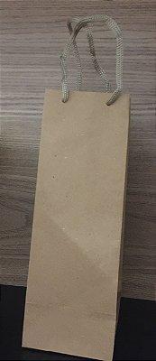 Sacola papel Kraft 23x8x7,5 Mini garrafa c/10 unids