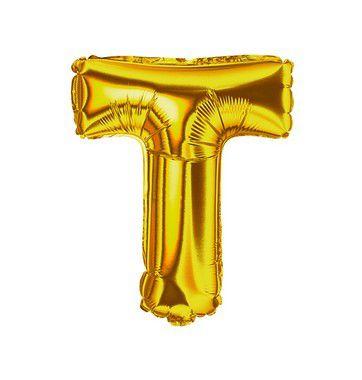 Balão Metalizado Letra T unid