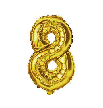 Balão Metalizado nº8 32cm unid