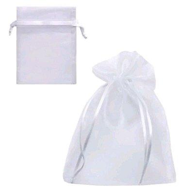 saco organza 7x9 branco c/10 unids
