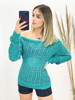 Blusa Tricot Arrastão (Diversas Cores)