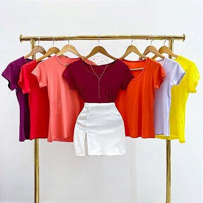 T-Shirts Viscolycra (Diversas Cores)