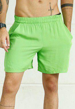 Shorts Viscose Verde Limão