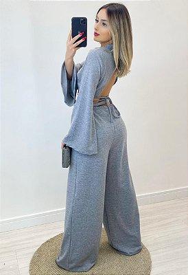 Calça Pantalona Moletom (Diversas Cores)