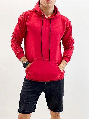 Blusa Moletom Cangurú Vermelha