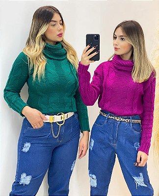 Blusa Tricot Gola (Diversas Cores)