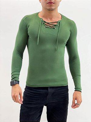 Camiseta Ilhós Verde Militar