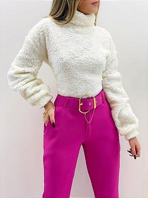 Blusa Cropped Pelo (Diversas Cores)