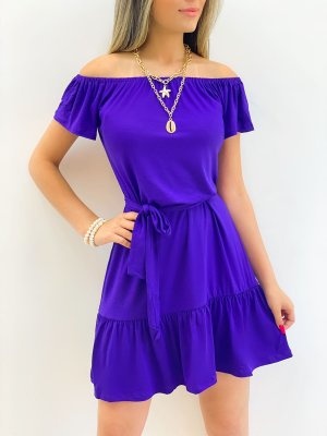 Vestido Ciganinha Viscomalha (Diversas Cores)