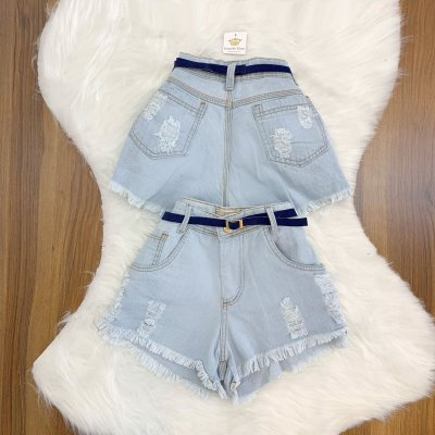 Shorts Jeans Cinto