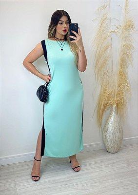 Vestido Fenda Plus Size