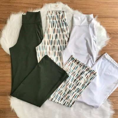 Calça Pantalona Suplex (Diversas Cores)