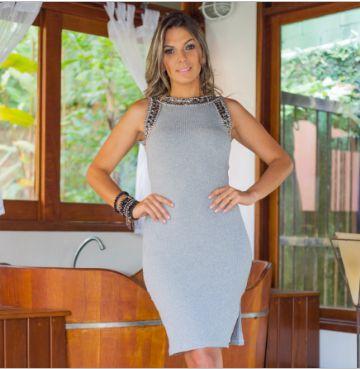 Vestido Versace Viscose Canelado