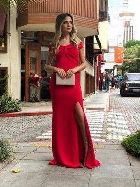 Vestido Red Crepe (Diversas Cores)