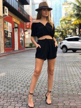 Shorts Cabello Viscomalha