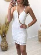 Vestido Renda c/ Arrastão