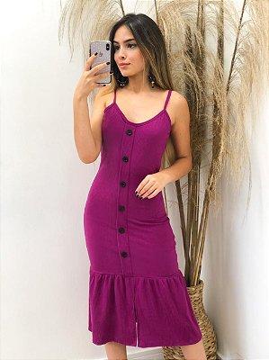 Vestido Midi Canelado (Diversas cores)