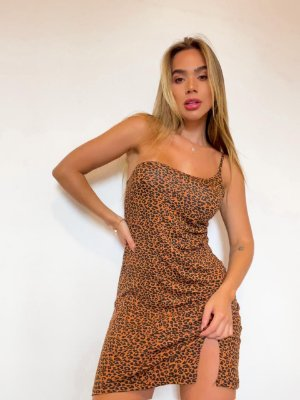 Vestido Animal Print Viscolycra