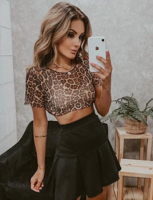 Cropped Tule Animal Print