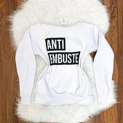 Blusa Moleton Anti Embuste