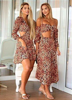 Conjunto e Vestido Silky Flor (Diversos Modelos)