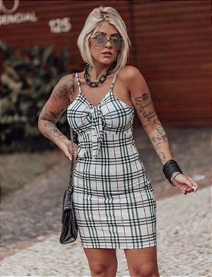 Vestido Laço Xadrez (Diversas Cores)