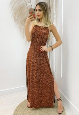 Vestido Viscolycra Animal Print
