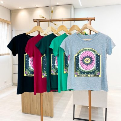 T-shirt Viscomalha (Diversas Cores)