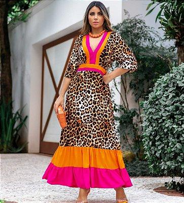 Vestido Animal Print Premium