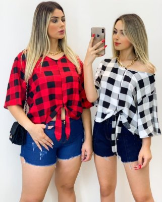 Camisa Viscose Xadrez (Diversas Cores)