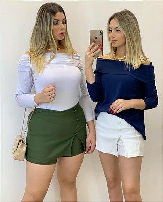 Shorts Saia Bengaline (Diversas Cores)