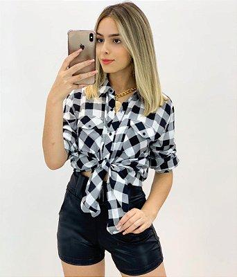 Camisa Xadrez Viscose