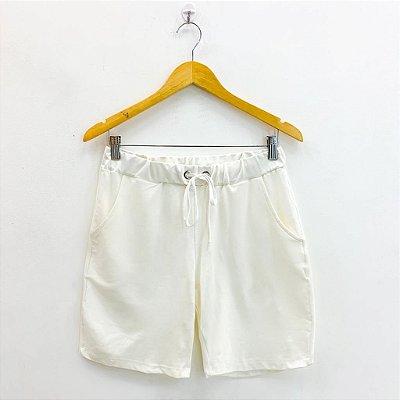 Shorts Básico Off White