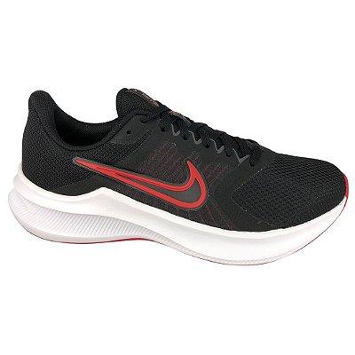 Tênis Masculino Nike Downshifter 11 - CW3411-005 - Preto-Vermelho