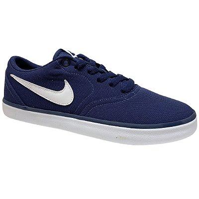 Tênis Masculino Nike Sb Check Solar Cnvs - 843896-400 - Azul