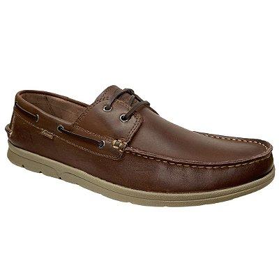 Sapato Masculino Freeway Dockside Couro - Rizzi - 3378 - Wax Tabaco