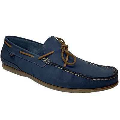 Sapato Masculino Freeway Couro Dockside -  Marselha - 3215 - Nobuck Midnight