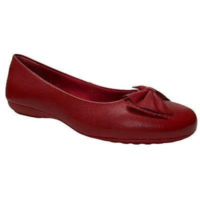 Sapatilha Feminina Bottero Couro - 319102-1 - Rouge