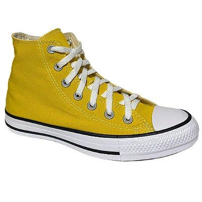 Tênis Unissex Converse Cano Alto Chuck Taylor All Star - CT04190034 - Amarelo Vivo-Preto-Branco