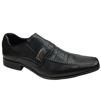Sapato Masculino Venetto Couro - 8302A -  Confort Preto