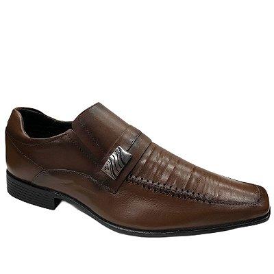 Sapato Masculino Venetto Couro - 8302C - Confort Pinhão
