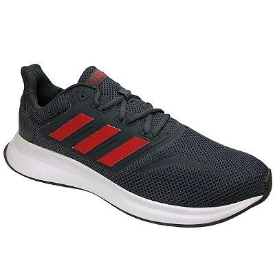 Tênis Masculino Adidas Runfalcon - EG8602 - Cinza-Vermelho