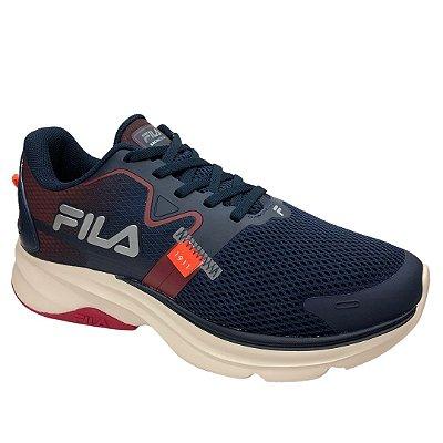 Tênis Masculino Fila Racer Motion - 11J729X-4255 - Marinho-Vermelho-Prata